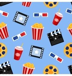 Cinema elements seamless pattern vector