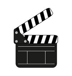 clapboard icon image vector image