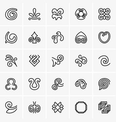 decoration icons vector image vector image