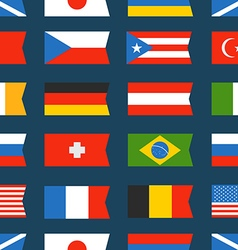 Different color flags seamless background vector