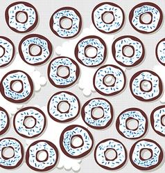 donutswithbluesprinklessp vector image