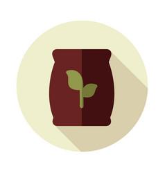 Fertilizer flat icon vector