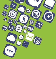 Flying web graphic interface icons vector