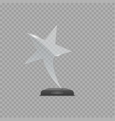 Glass star award vector