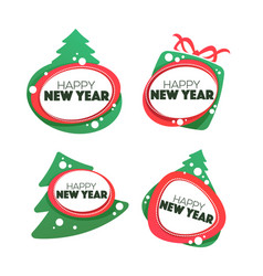Happy new year and merry chrismas banner symbol vector