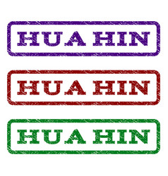 hua hin watermark stamp vector image vector image
