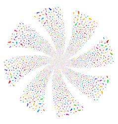 Human footprint fireworks swirl flower vector