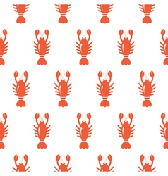 Lobster seamless pattern vector image vector image