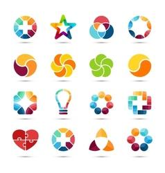 Logo set circle signs and symbols design vector