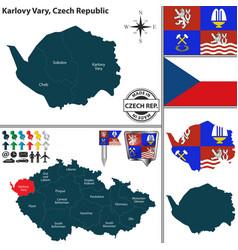 map of karlovy vary czech republic vector image