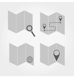 Maps set vector image