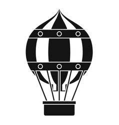Old fashioned helium balloon icon simple style vector