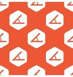 Orange hexagon angle pattern vector image