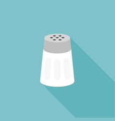 salt shaker icon flat design with long shadow vector image