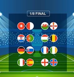 Semifinal tournament scheme Football infographic vector image
