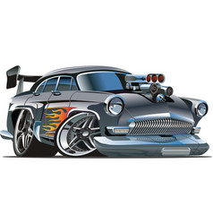 Soviet hot rod car vector image