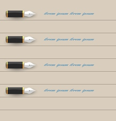 Stylized writing pen design for infographics vector image vector image