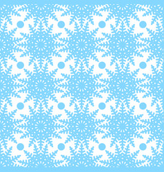 symmetric seamless pattern of snowflakes and vector image vector image