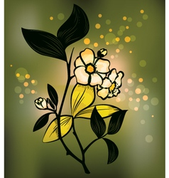 Tea plant vector image