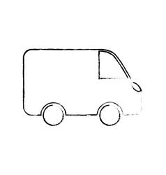 Van shipping vehicle vector