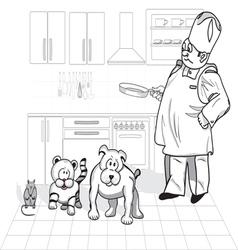 Wise cook vector