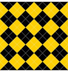 Yellow black diamond background vector