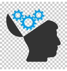 Open mind gears icon vector