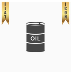 Barrels of oil icon vector