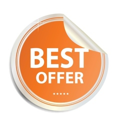 Best offer label sticker vector
