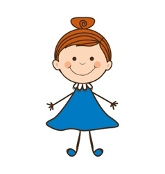 Girl child icon image vector