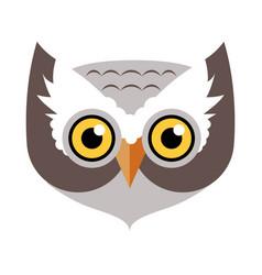 owl bird carnival mask childish masquerade element vector image