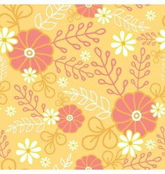 Hot flowers seamless pattern background vector
