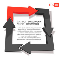 Business infographic 3d abstract background vector
