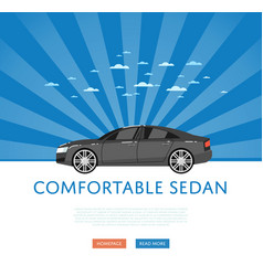 Website design with business sedan vector