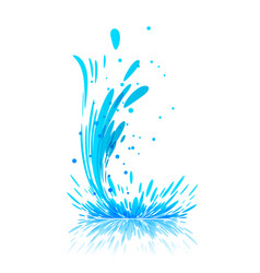 Water splash on white vector