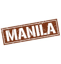 Manila brown square stamp vector