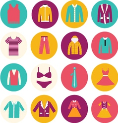 Clothes flat icons - vector