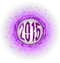 2015 Fireworks vector image