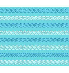 Seamless sea pattern blue and white waves on light vector