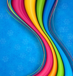 Colorful wavy christmas background vector