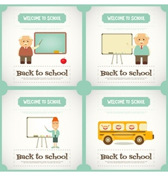 Back to school mini posters vector