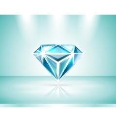 Presentation of a diamond vector image