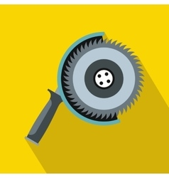 Circle saw icon flat style vector