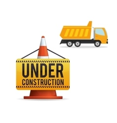 Under construction design supplies icon road vector