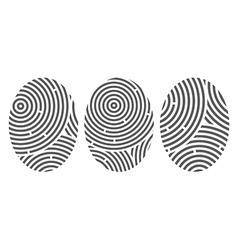 Abstract fingerprints vector image