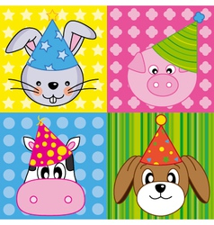 Animals card vector