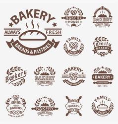 bakery badge icon fashion modern style wheat vector image