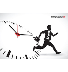 Business man beating the clock vector