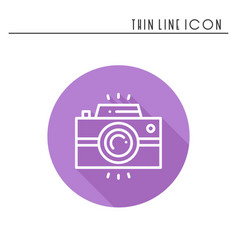 Camera line outline icon photo camera photo vector