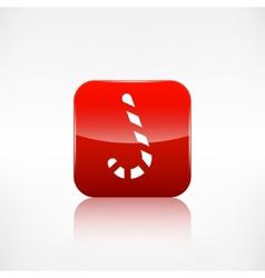Candy cane web icon application button vector